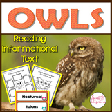 OWLS: NONFICTION AND SCIENCE  With Fact or Myth Interactive Slideshow: Gr. 2-4