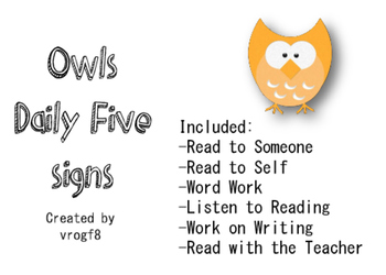 Owls Daily Five Signs