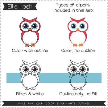 Owls Digital Clipart