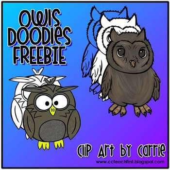 Owls Doodles FREEBIE