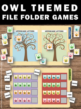 Owls Theme Math and Literacy Centers, File Folder Games Special Education