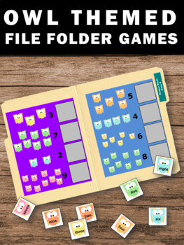 File Folder Activities for Special Education Autism Owls Theme File Folder Games