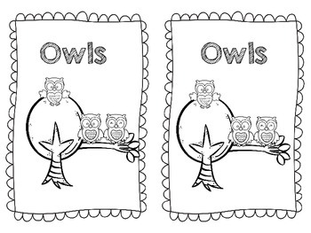 Owls-All About Owls Emergent Reader