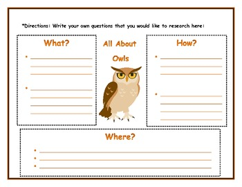Owls Informational Writing and Craft