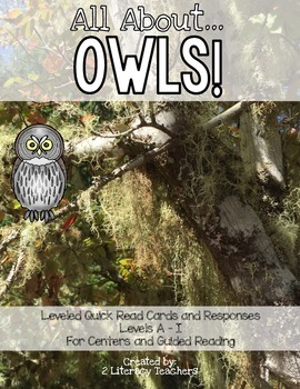 Owls! Leveled Quick Read Cards and Response Activities