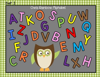 Owls Literacy Learning Centers