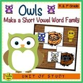 Owls Make A Short Vowel Word Family Center