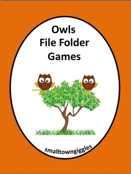 Owls Math Center Cut and Paste Counting Addition Subtracti