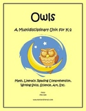 """Owls"" Math and Literacy Unit - Aligned with Common Core S"