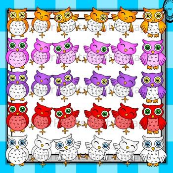 Owls Mega Clip Art Pack