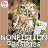 Owls Nonfiction Guided Reading Comprehension and Fluency Passages