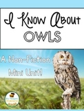 Owls: Nonfiction Mini Unit & Graphic Organizers