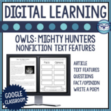 Owls Nonfiction Text Features Lessons for Distance Learning
