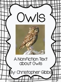 Owls Nonfiction Text and Recording Sheet