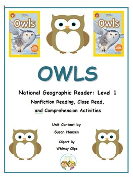 Owls National Geographic Kids Book Study