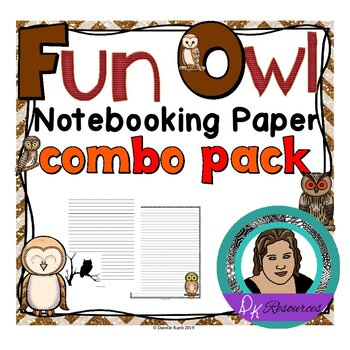 Owls Notebooking Paper Combo Pack - Wide Rule and Primary