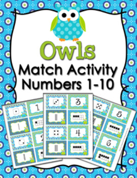 Owls Numbers 1-10 Match Activity