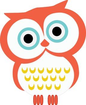 Owls (Orange, Teal, Yellow)