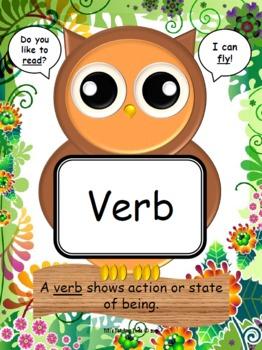 Owls Parts of Speech