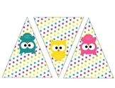 Owls Pennant Banner Classroom Decoration