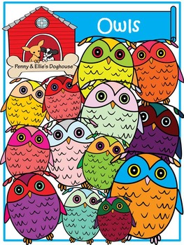 Owls *Penny & Ellie's Doghouse Clipart*