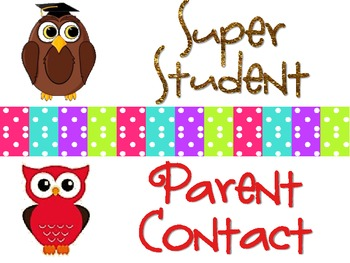 Owls & Polka Dots Behavioral Management Chart