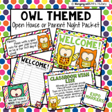 Editable Owls & Polka Dots Open House Documents