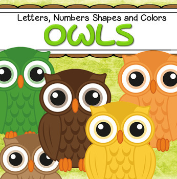 Owls Numbers, Letters, Shapes and Colors