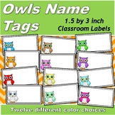 Owls Printable Name Tags (1.5 by 3 inches)