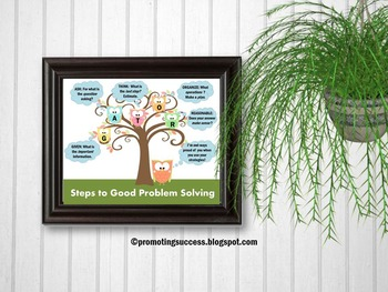 Owl Themed Classroom, Problem Solving Strategies, Counselor Poster