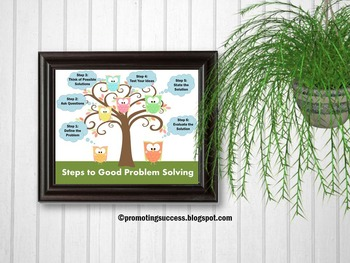Problem Solving School Counseling Printable Poster Classro