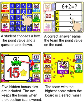 Quiz Show Review Game - Owl Theme - Fun Community Building SmartBoard Game