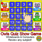 Quiz Show Review Game - Owl Theme - Fun Community Building