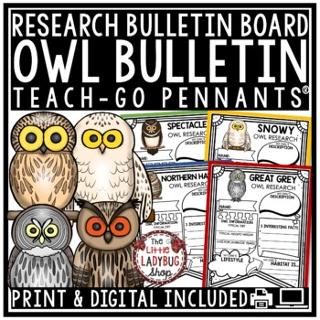 All About Owls Research Project & Rubric • Teach- Go Pennants™
