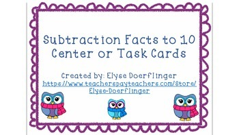 Owls Subtraction Facts to 10