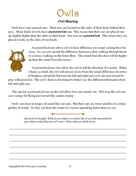 Owls Thematic Unit