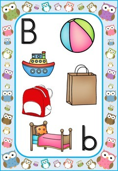 Owls Theme Alphabet Letter Sounds Posters