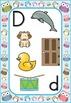 Owls Theme Blue Border Alphabet Letter Sounds Posters