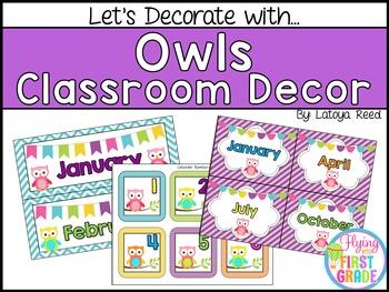 Owls Classroom Decor