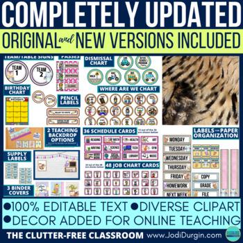 OWL THEME Classroom Decor EDITABLE