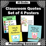 Owls Classroom Theme, Motivational Posters, Inspirational Quotes
