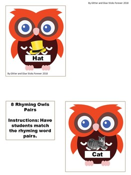 Owls Unit for Toddlers, Preschoolers, and Kindergartners!