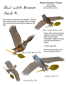 Owls With Brooms Pack #1
