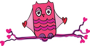 Owls With Heart Digital Clips ~ PopNwow Valentines