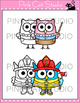 Owls With Jobs Clip Art Set - Personal & Commercial Use