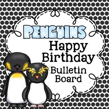 Penguin Birthday Bulletin Board