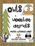 Owls & Woodland Animals Math & Literacy Unit