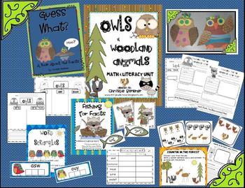 Owls & Woodland Animals Math & Literacy Unit