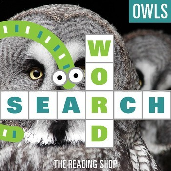 Owls Word Search Puzzle - 3 Levels Differentiated