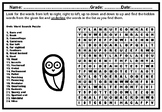 Owls Research Project Word Search Puzzle Worksheet, Distance Learning